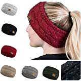 Evelove Women Winter Warm Beanie Headband Skiing Knitted Cap Ear Warmer Headbands