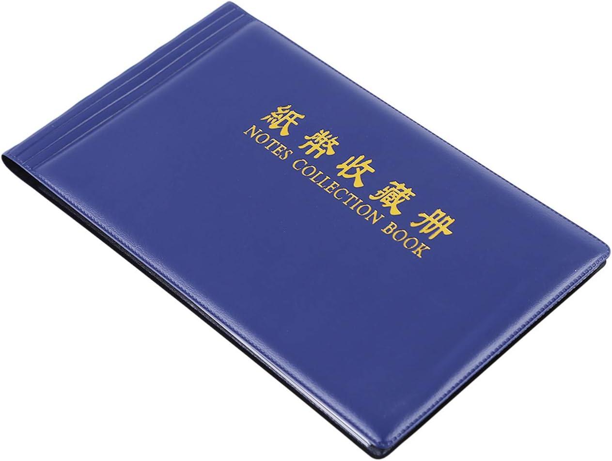 Bigsweety PVC Transparente Bl/ätter F/ür Papiergeld Banknoten Sammlung Album Home Dekorative Handwerk Blau