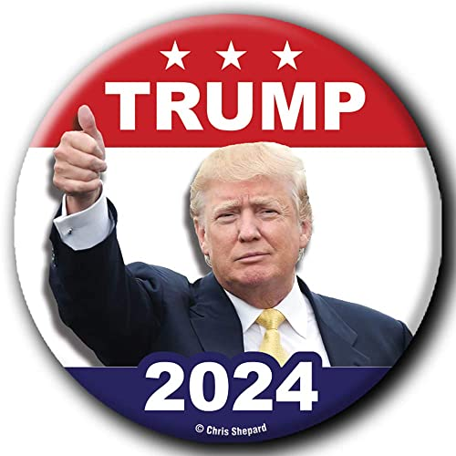 VOTE AMERICA TRUMP PRESIDENT 2020 2.25 INCH GOLD ELEPHANT GOP  BUTTON CAMPAIGN