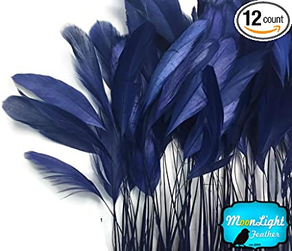 """100 Pcs ROOSTER Coque Fringe Trim//Costume//Halloween IVORY 4-6/"""" Feathers"""