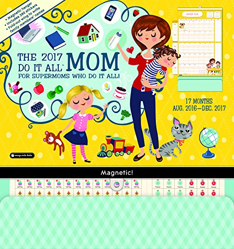 Orange Circle Studio 17-Month 2017 Do It All Magnetic Wall Calendar, Mom's Do It All (15556)