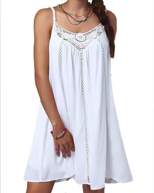 ZhuikunA Mujer Casual Suelto Corto Mini Vestir Playa Vestidos: Amazon.es: Ropa y accesorios