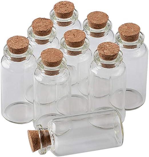 Jarvials 50 botellas de vidrio vacías con corcho Lucency Vials ...
