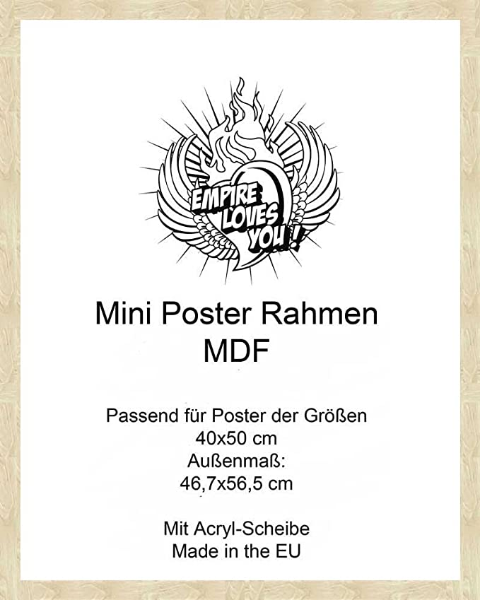 Wechselrahmen passend für Miniposter 40 x 50 cm Platin
