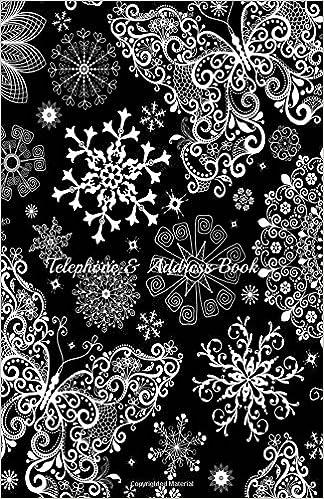 telephone address book pretty snowflakes amazon co uk northrup