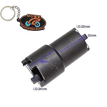 Cozy embrague tuerca herramienta de eliminación de aceite Spinner adecuado para Honda CB125 CB750 F CB900 F CB900: Amazon.es: Jardín