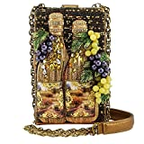 MARY FRANCES Napa Valley White Wine Embellished Cross-Body Handbag