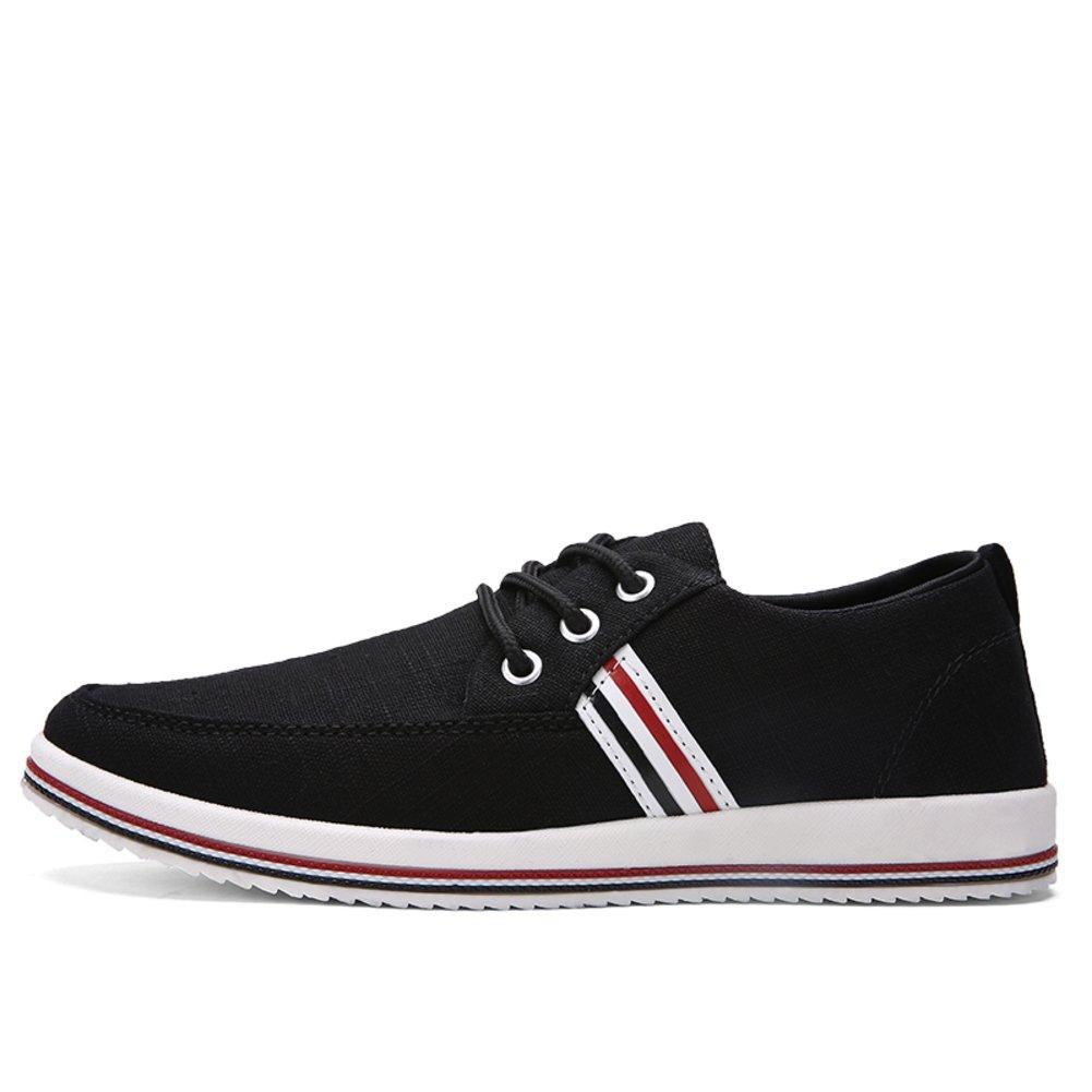 WLJSLLZYQ Sommer Herrenschuhe Low-atmungsaktive Leinwand Mit flachem Boden Schuhe Trend der koreanischen Version von Lok Fu-Schuhe Herren Freizeitschuhe
