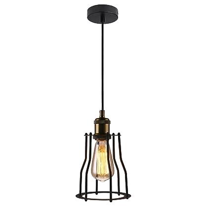 Amazon.com: 7Pandas 1-light Wire Cage Guard Pendant Lamp, Industrial ...