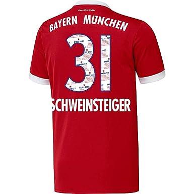 Bayern München Home Danke Bastian Schweinsteiger 31 Trikot 2017 2018