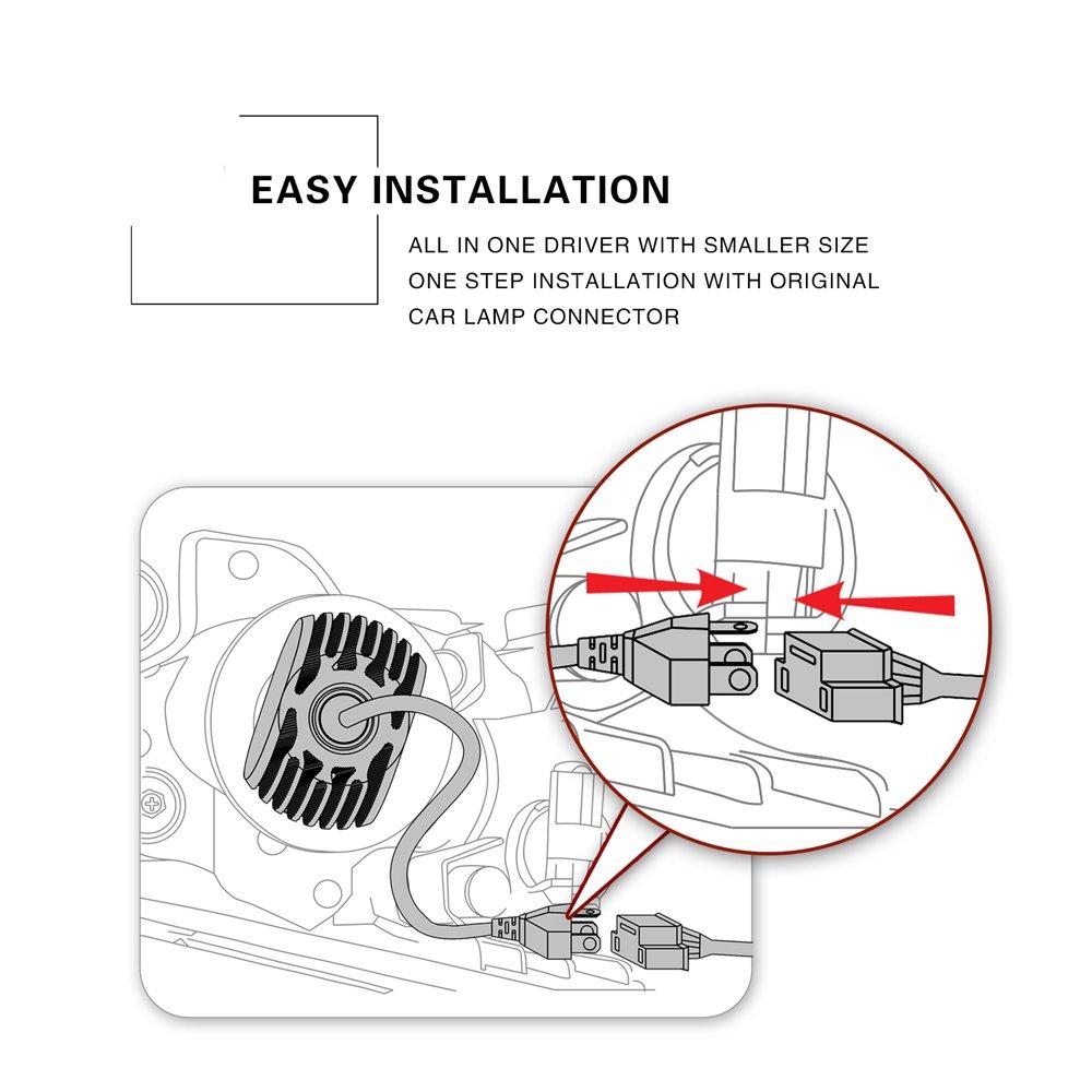 dual h4 9003 led headlight conversion kit 50w hb2 s1 csp