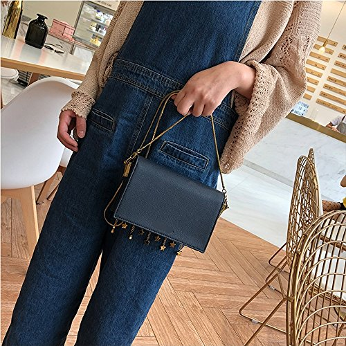 Bags 2018 Package Chain Slung Square New ZQ Shoulder Star Tassel 7qwndFF1O