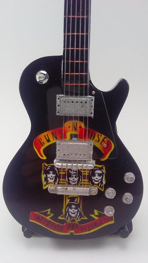 Guitarra Miniatura Colección- Mini Guitar Guns and Roses , en color Negro - Miniatura de