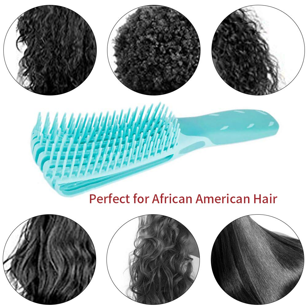 Anti Static Detangling Hairbrush Detangling Brush for Black Natural Hair Soft Detangling Comb Hair Detangler Comb Pain Free Hair Brush Straightener Hair Curly Hair Thick Hair and Fine Hair,Wet&Dry