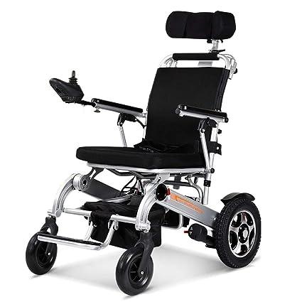 Silla De Ruedas Eléctrica Anciano Discapacitado Coche Anciano Portátil Inteligente Scooter Multifuncional Plegable,Silver