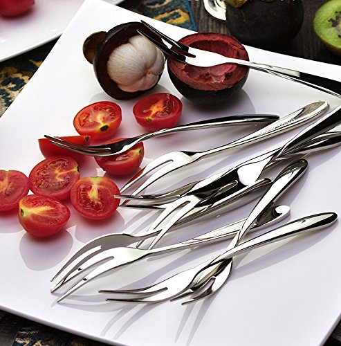 10 piece Stainless Steel Fruit Fork,Cake Fork,Cocktail Forks