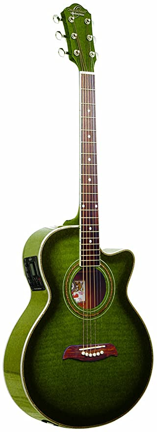 Amazon Com Oscar Schmidt By Washburn Og10ce Full Size Cutaway