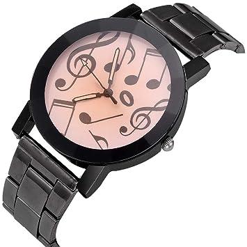 Zxzays Reloj analógico de la muñeca de la Hora del Cuarzo de la Moda del Acero