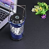 Led Camping Lantern - Battery Powered Lantern - Portable Lanterns with Compass Outdoor Camping Hiking Mountaineer Light 12 LED Lamp Multi-function Tent Lamp - Outdoor Camping Lantern