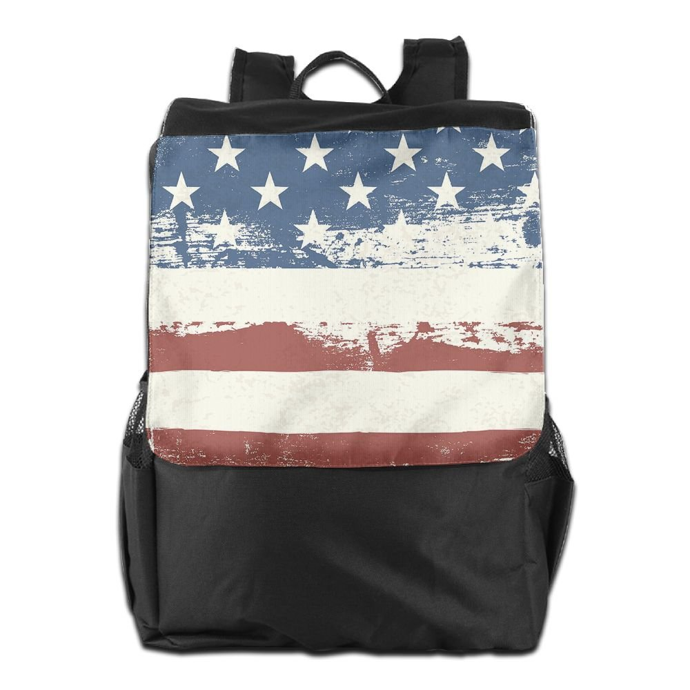 8f4c98a13f2 Vintage American Flag Convenient Lightweight Travel Hiking Backpack Daypack  cheap
