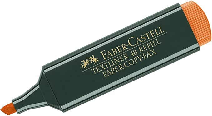 Faber-Castell 48-21 - Subrayador (1 unidad), color naranja: Amazon ...