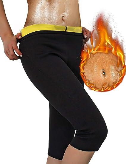 a6eb52f7f IFLOVE Women s Slimming Pants Hot Neoprene for Weight Loss Fat Burning Sweat  Sauna Capris Leggings Shapers