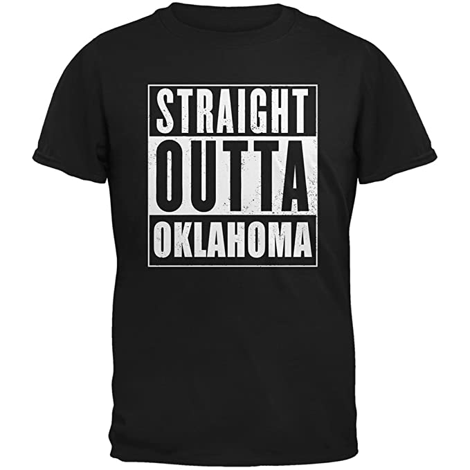 Straight Outta Oklahoma Black Adult T-Shirt