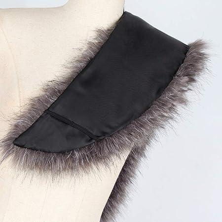 Amazon.com: Besde Womens Winter Faux Fur Collar Scarf Shawl ...