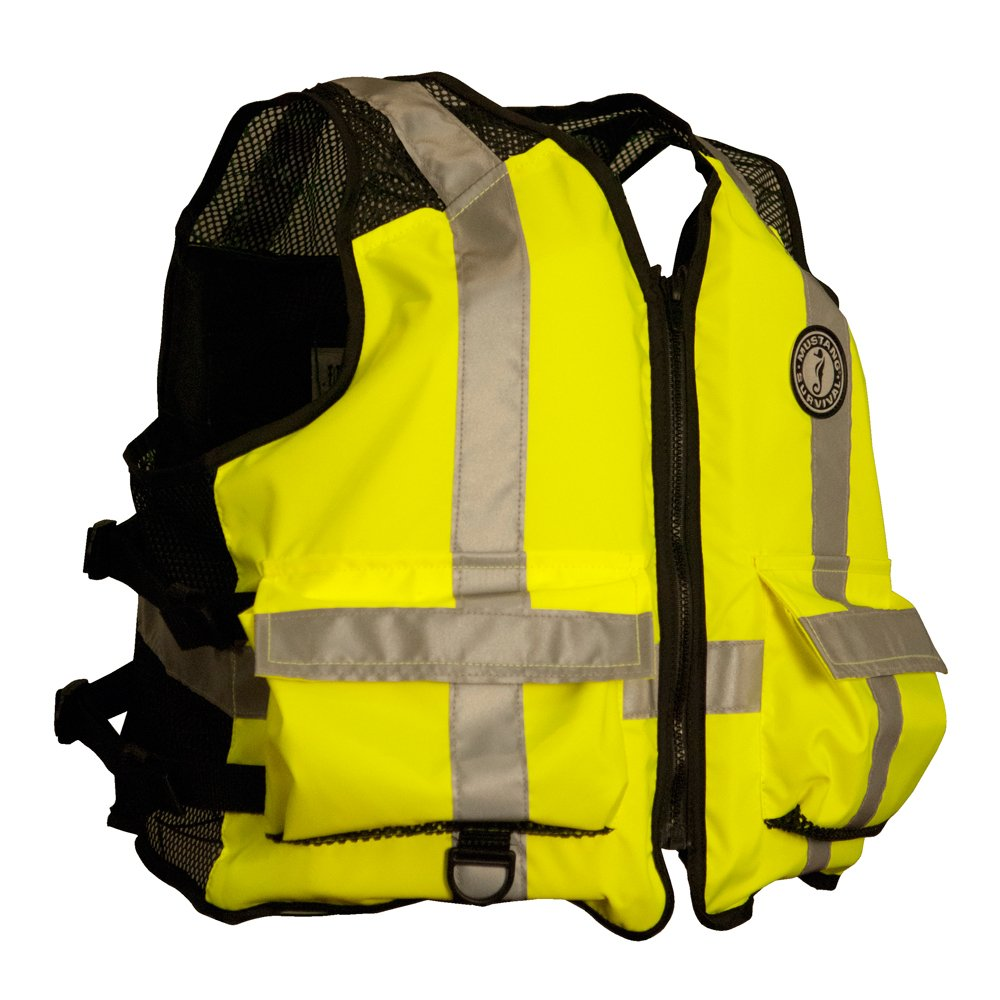 【ギフ_包装】 Mustang High Visibility - Industrial Mesh Survival Vest - by L/XL - Yellow/Black by Mustang Survival B009XDMECM, ナカツシ:17d7bd5e --- a0267596.xsph.ru