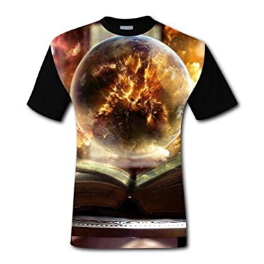 Aslgisy Book Sphere Magic Orcery Casual T-Shirt Short Sleeve for Kids