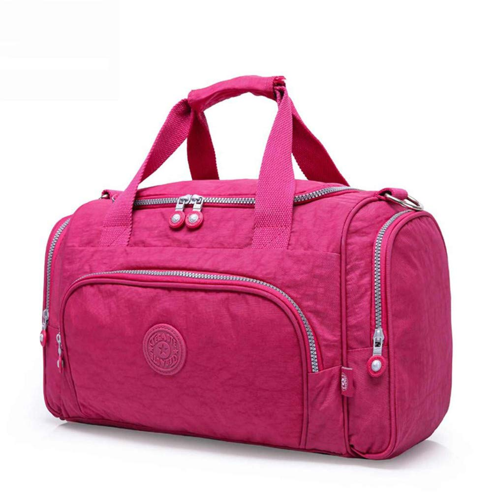 Men's Travel Bag Zipper Luggage Travel Latest Style Large Capacity Male Female Portable Travel Tote Burgundy