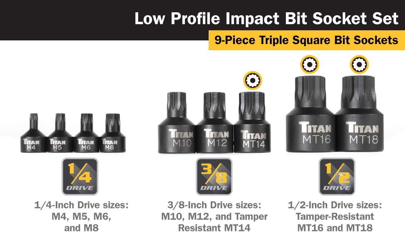 """VIM Tools HS-3//16 Hex Bit 3//16/"""" x 1//4/"""" Square Dr"""