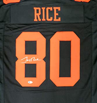 5eabeef0 San Francisco 49ers Jerry Rice Autographed Black Jersey - Beckett ...