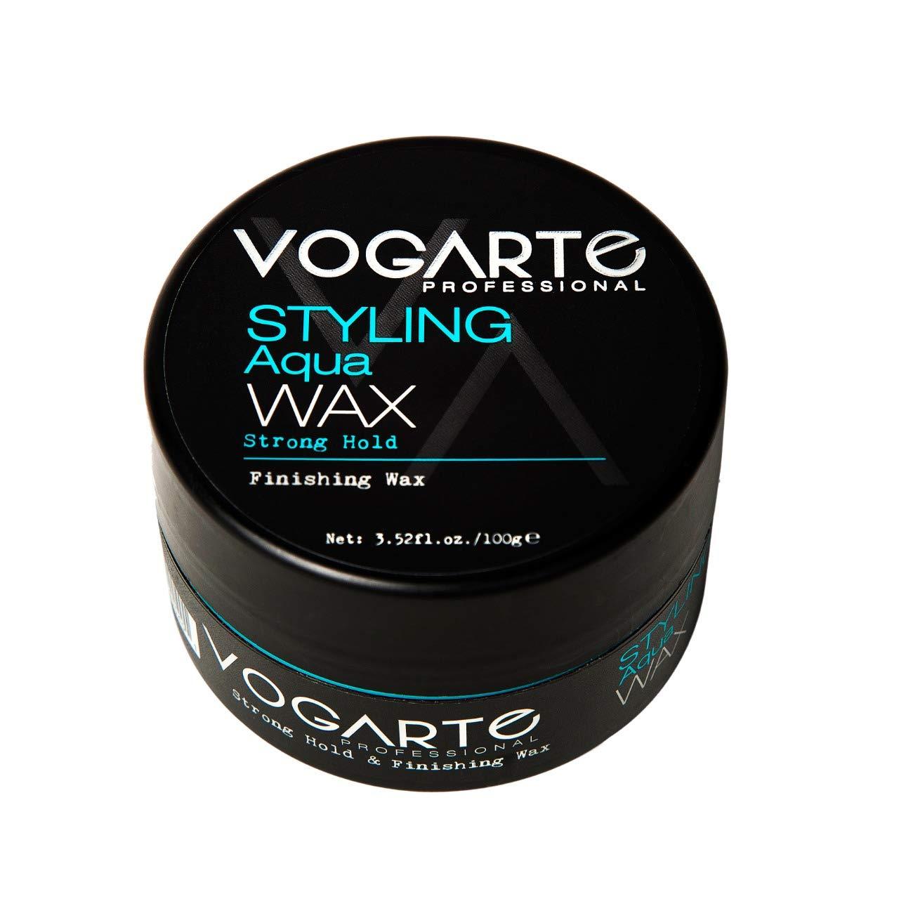 VOGARTE Hair Styling Aqua Wax for Men, Strong Hold & Shiny Finish, 3.52 oz