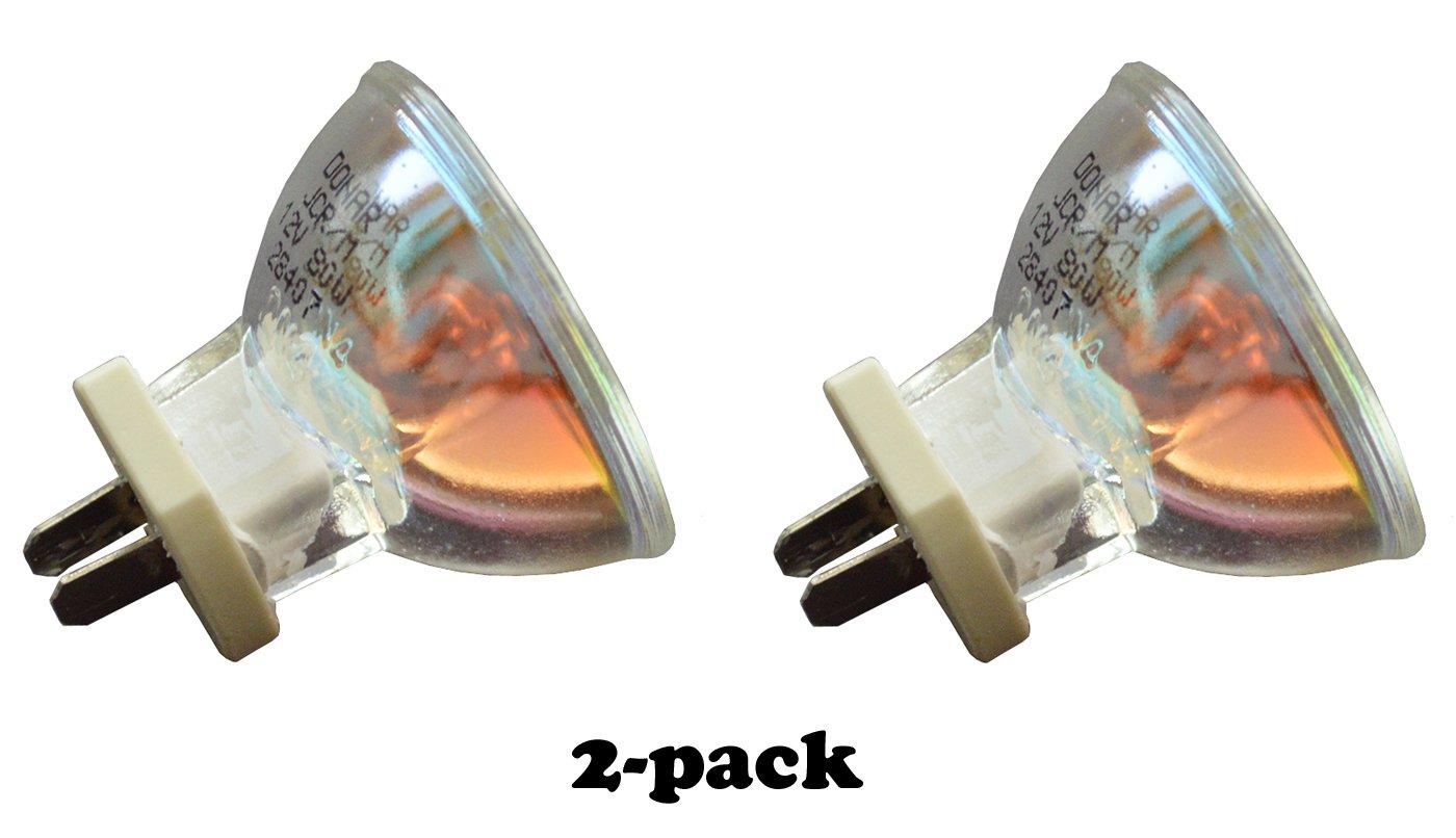2pcs 12V 80W RM-82 Donar Bulb for Demetron Optilux 100 101 300 380 400 401 402 500 501 - Patterson TCL490 Plus, Dental Cam - Philips 13865 - Penn-Med 300L & 310 Gun Dental Medical Curing Lamp