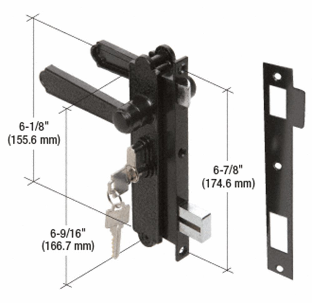 Screen and Storm Security Door Mortise Lock for Academy Doors, Keyed by C.R. Laurence (Image #1)