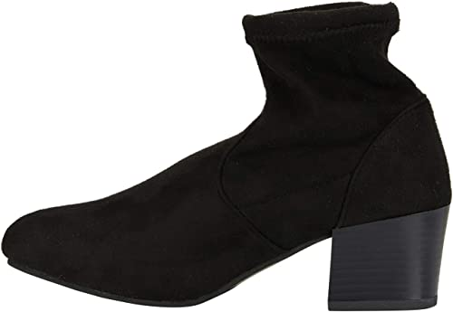   Women's Microsuede Ankle Boots Sock Style Slide