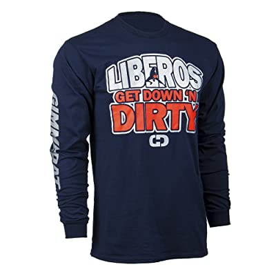 Customizable! GIMMEDAT Liberos Get Down N Dirty Long Sleeve Volleyball T-Shirt - Personalize with Name and Number!