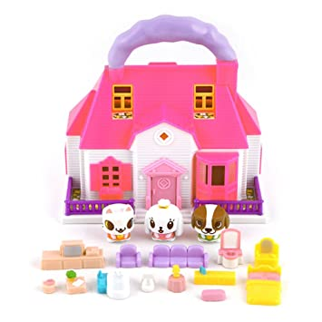 Canimals House Figure Playset Two Stories House By Canimals