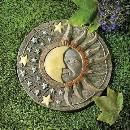 Garden Stepping Stone Craft Glow In The Dark Round Molds Pathway Accent Outdoor Flower Bed Decorative