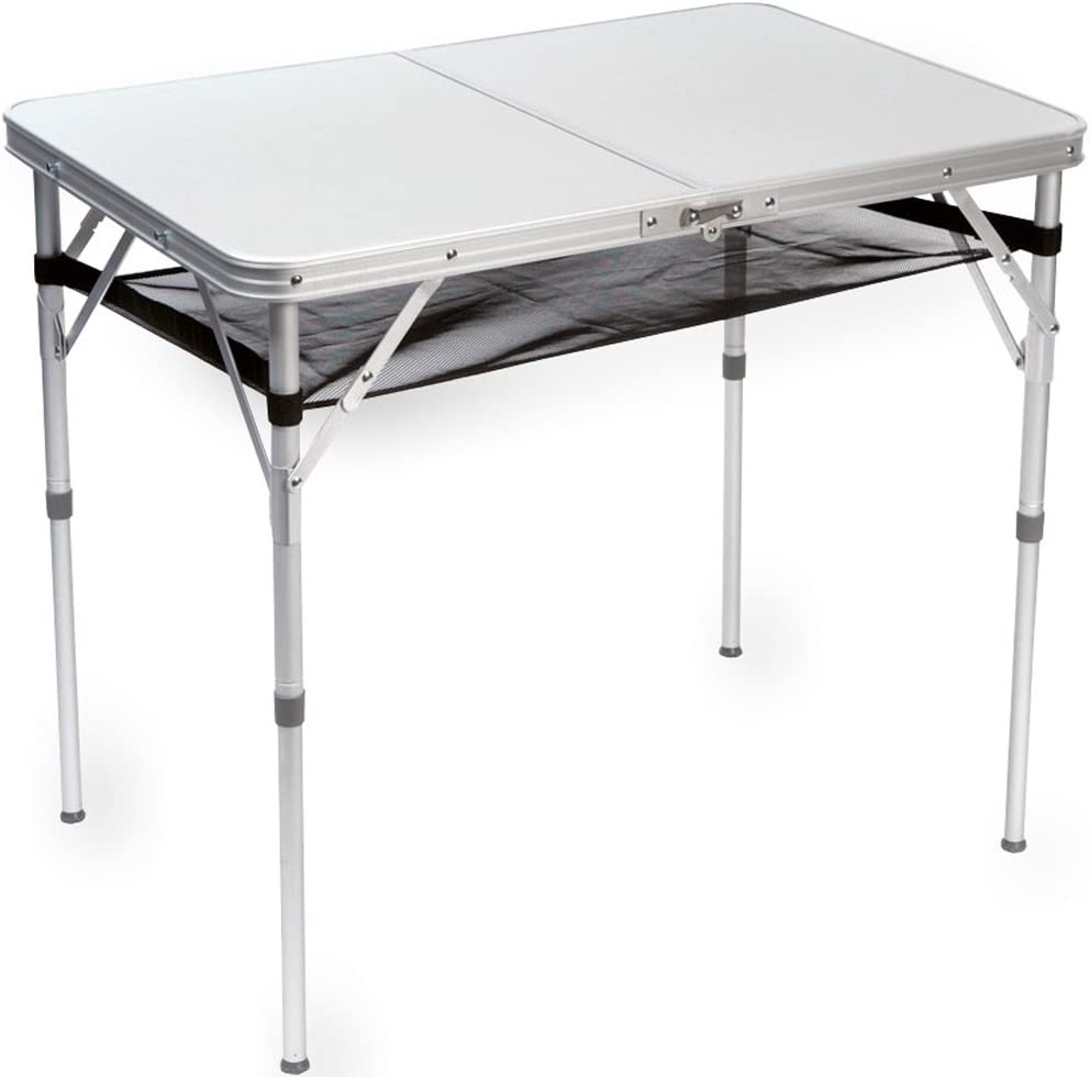 Alu mesa de camping con patas abn, 90 x 61 cm, B-Ware     Camping ...