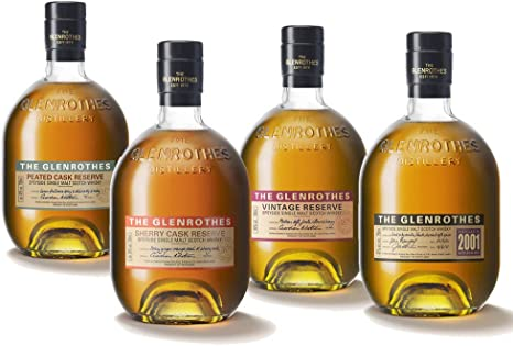 The Glenrothes 2001 + Sherry Cask + Vintage Reserve + Peat Cask ...