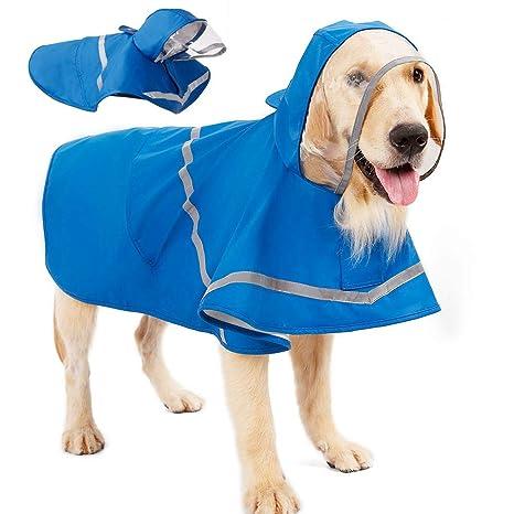 Chubasquero reflectante para perro con capucha y agujero para ...