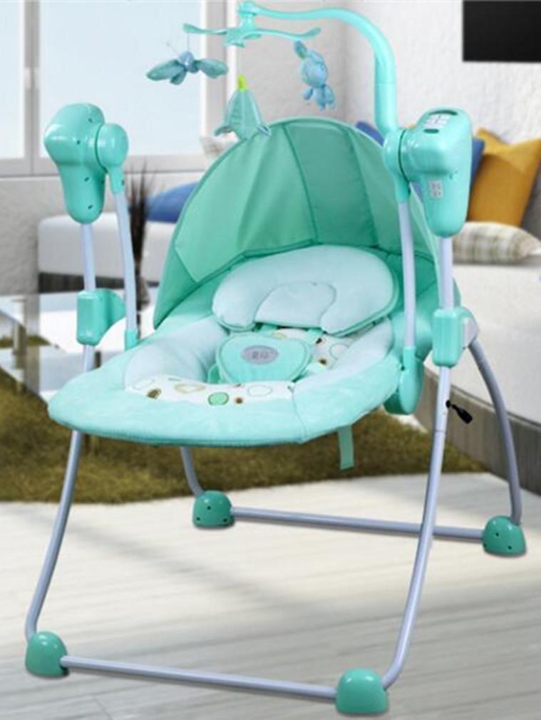 NWYJR Kleinkind Rocker Neugeborene Tragbare Geeignet Vibration Elektrischer Multifunktions Appease Musik-Baby-Schaukel