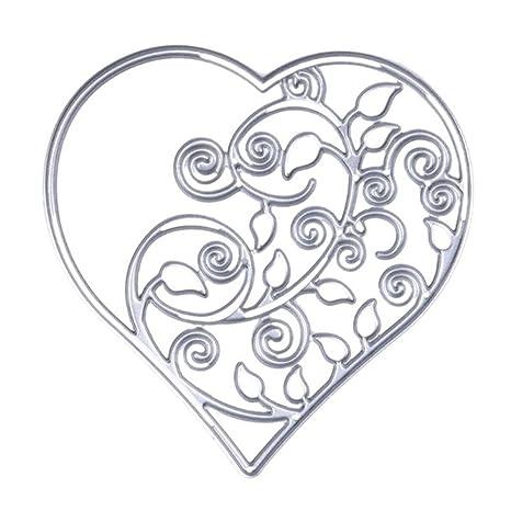 zmigrapdn plantillas de corte, metal hueco corazón Vine plantillas para hacer tarjetas, corte troquelado