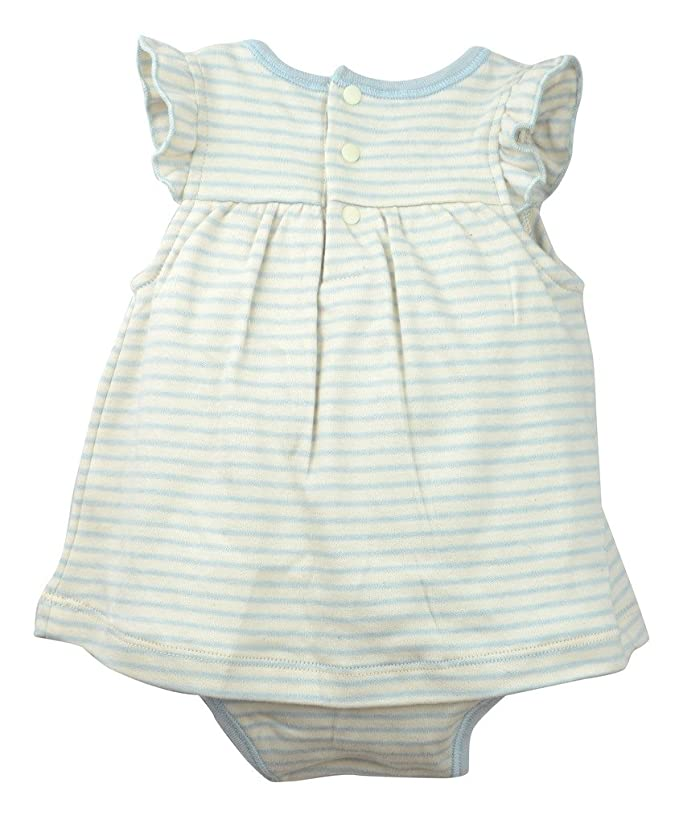 Amazon.com: Organic Cotton Baby Girls Ruffle Bodysuit Babydoll Dress, All Natural Dye-Free: Clothing