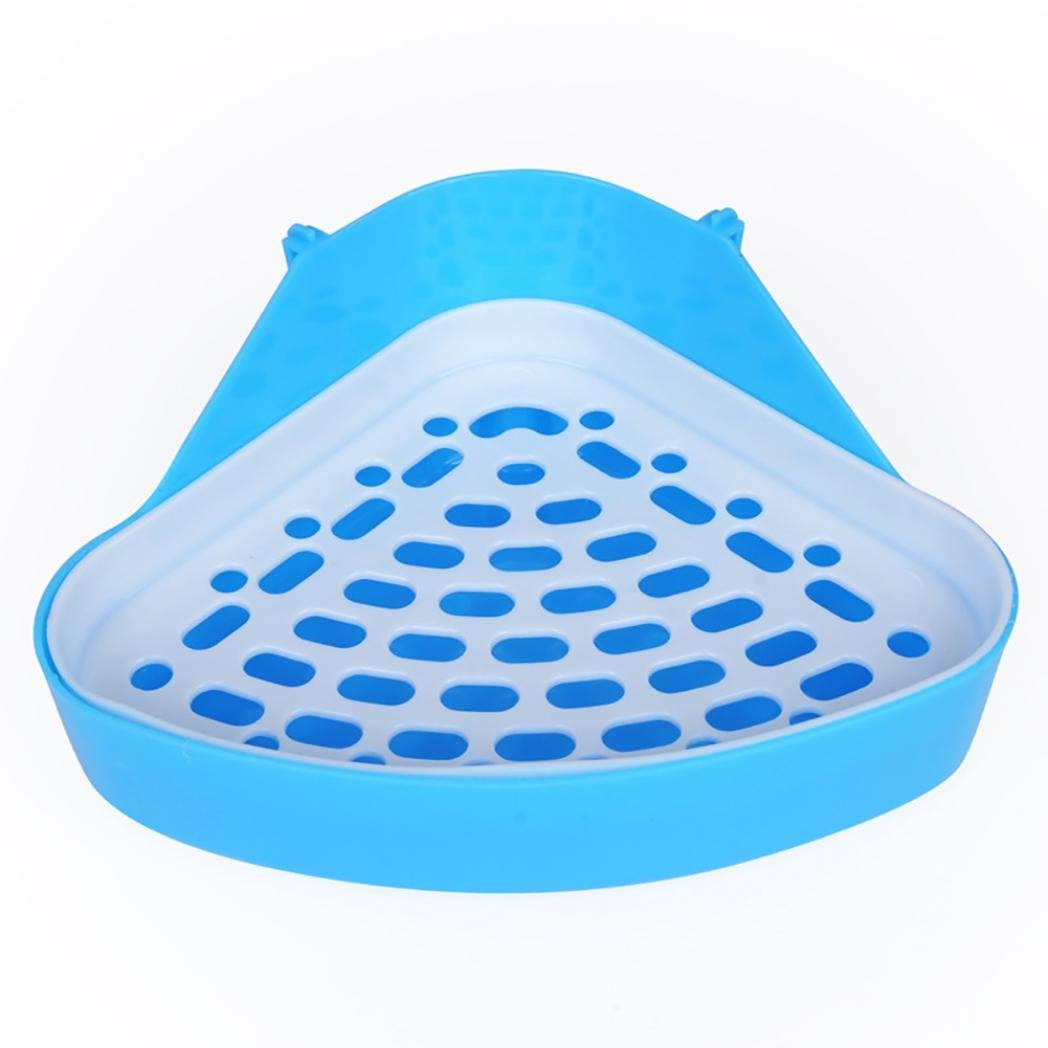 Potato001 Durable Pet Cavy Rabbit Pee Toilet Small Animal Hamster Litter Tray Clean Tool (Green)