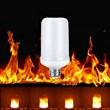 Lixada LED Flame Flickering Effect Fire Light Bulb SMD2835 Creative Decorative Atmosphere Lamp for Party Holiday Birthday Gift (E27)