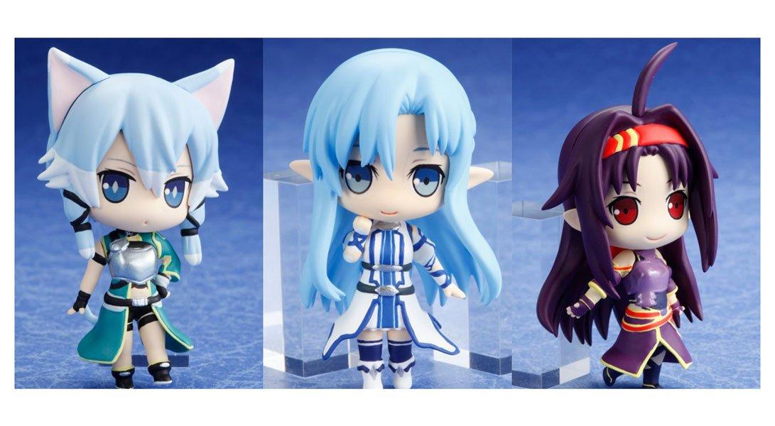 opciones a bajo precio Sword Art Online Online Online deformed Figura Set of 3  Ahorre 35% - 70% de descuento