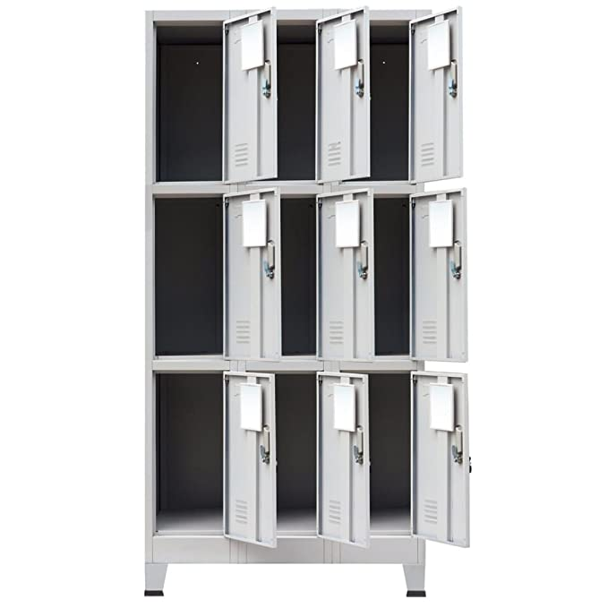 Amazon.com: BLXCOMUS Gray Steel Cabinet Storage for Sports Locker ...